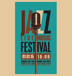 music poster for jazz festival with microphone vector image
