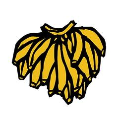 One bundle of banana vector