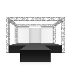 Outdoor festival stage podium metal truss system vector