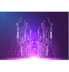 Purple blue light futuristic technology vector
