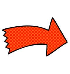 Quirky comic book style cartoon arrow vector