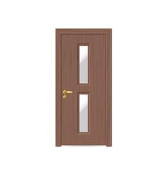 realistic wooden door isolated vector image