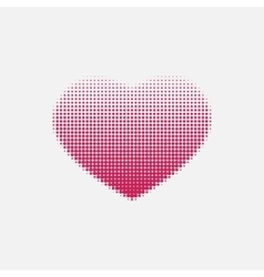Red heart painted with dots vector image