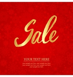 Sale Hand lettering Design Template Typography vector image