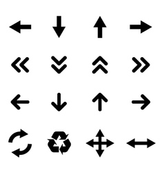 Set of flat icons - arrows vector image