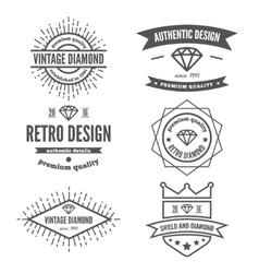 Set of vintage logo label badge and logotype vector image