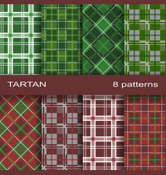 Set tartan pattern vector
