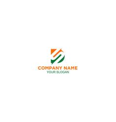 Simple ds logo design vector