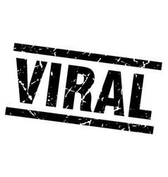 Square grunge black viral stamp vector