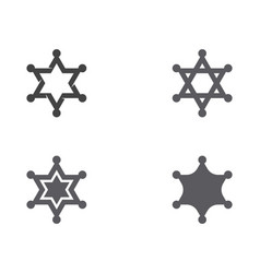 star sherif icon template vector image
