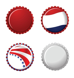 Stars and stripes bottle cap vector