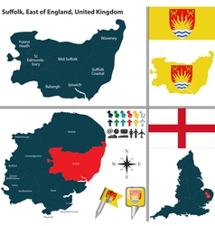 Suffolk east england vector