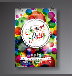 summer party flyer design vector image