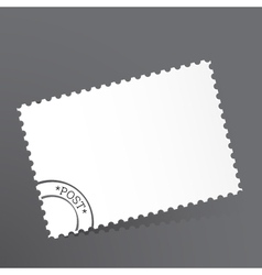 Template of the post card vector