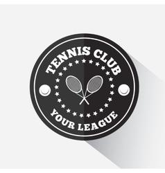 Tennis emblem template vector image vector image