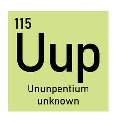 ununpentium chemical symbol vector image