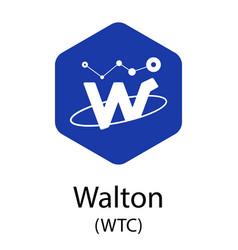 walton cryptocurrency symbol vector image