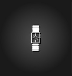 watch icon flat vector image
