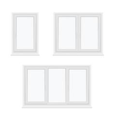 windows plastic single double three leaf closed vector image