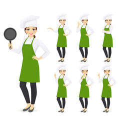 Woman chef vector