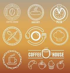 bakery and pastry emblems vector image