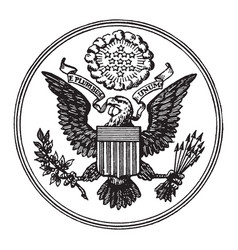great seal of the united states vintage vector image vector image