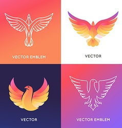 abstract logo design template in bright gradient vector image