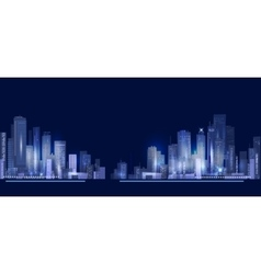 City skyline at night vector image