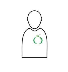 eco plant in man vector image vector image