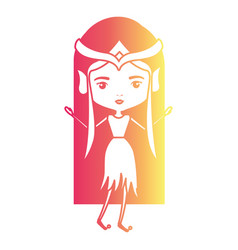elf princess fantastic character in degraded vector image