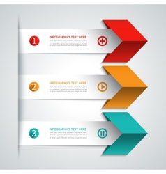 Modern arrow infographics elements vector image