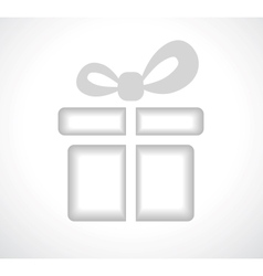 Silhouette of a gift box with a bow vector image