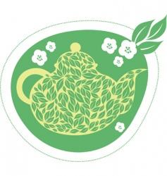Green jasmine tea vector