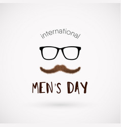 international men day poster vector image