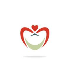 love abstract logo vector image