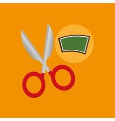 school board icon scissors design vector image