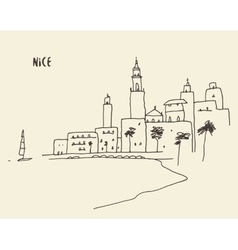 Sketch Nice view hand drawn vector image vector image