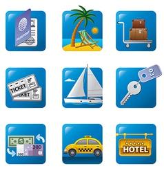 tourism icon set2 vector image