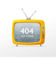 Tv retro cartoon style 404 error concept vector image vector image