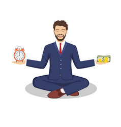 businessman found his balance vector image vector image