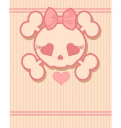 cute skull vector image