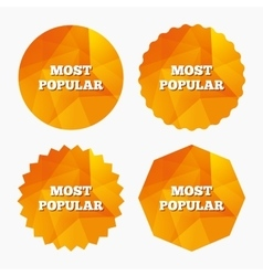 Most popular sign icon Bestseller symbol vector image vector image