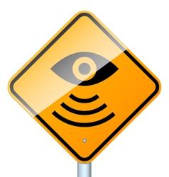 radar road sign vector image
