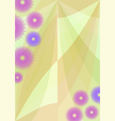 spring background with cute purple flowers vector image vector image