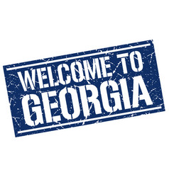 welcome to georgia stamp vector image