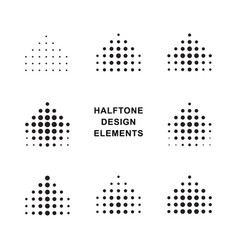 Abstract halftone dots forms vector