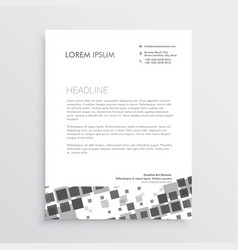 Abstract mosaic letterhead design template vector