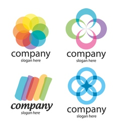 abstract solution logos vector image