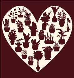 all pot plants Potted plant silhouette vector image