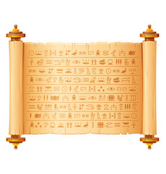 ancient egyptian papyrus with hieroglyphs vector image